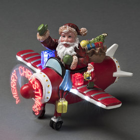 Konstsmide LED Vinter scene Santa i fly