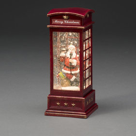 Konstsmide LED Telephone booth with Santa Claus