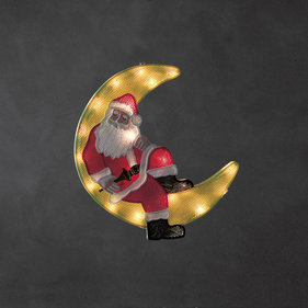 Konstsmide LED Window Silhouette Santa im Mond