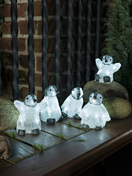 Konstsmide LED Acryl baby pinguins