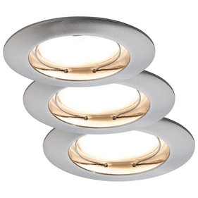 Paulmann Ceiling LED Coin inbouwspot set van 3