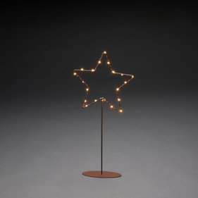 Konstsmide LED metal star on foot 40cm