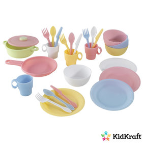 Kidkraft Toy kitchen set 27-piece pastel