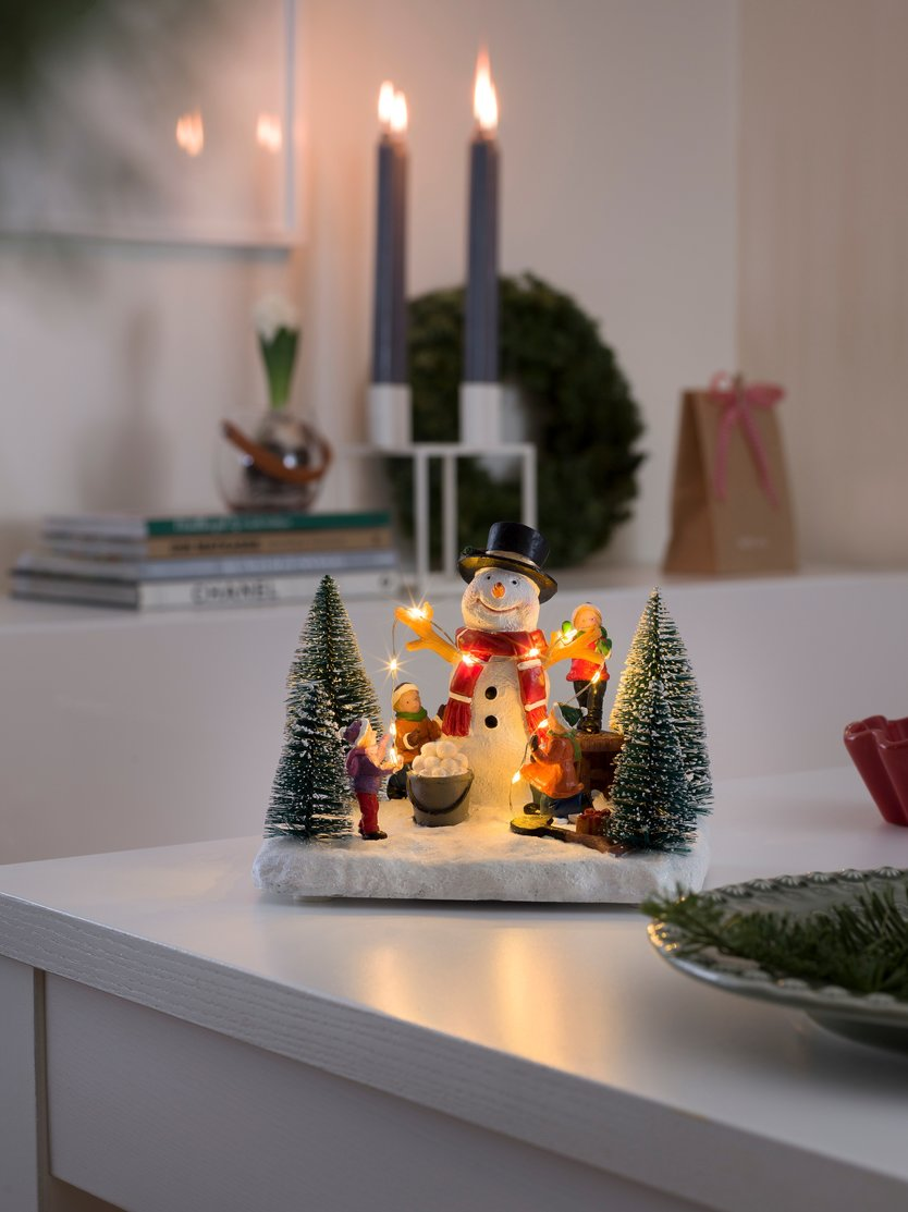 Konstsmide LED Winter scene Snowman with children
