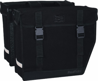 Fastrider Double Canvas Bicycle Bag Led Medium