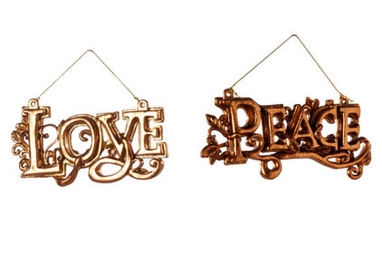 LOVE PEACE HANG 2ASS KOPER 12XH6CMPLASTIEK