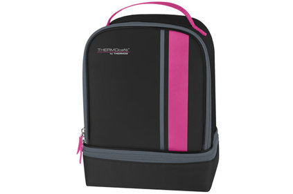 Thermos Radiance Dual Compartiment zwart-roze lunchkit