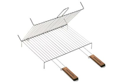 BARBECUEGRILL VOET DUBBEL 2HV 60X40CMCHROME