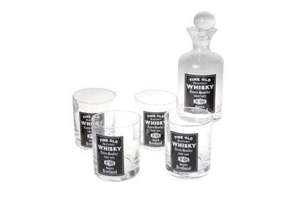WHISKYGLAS X4 M.BOTTLE SET5 D8XH10CMCOLOR BOX-11X24CM