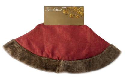 Cosy@Home Christmas tree skirt with faux fur