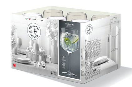PREMIUM COCKTAIL-GIN  76 CL SET 6 (5+1 )OPËN DOOS
