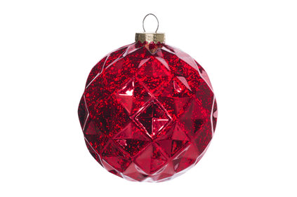 KERSTBAL BORDEAUX KUNSTSTOF 15X15XH15 ANTIQUE DIAMOND