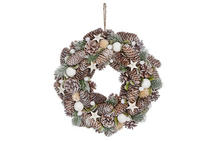 Christmas wreath snowball cone ø 34 cm