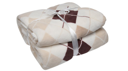 ROMBO BROWN PLAID 160X200POLYESTER 250GR