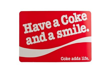 PLACEMAT PP COKE AND SMILE ROOD 43X30CM