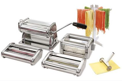 PASTA MACHINE SET 6IN1 SPAGH.-FETT.-LAS.-RAV.-DROGER-SNIJDER