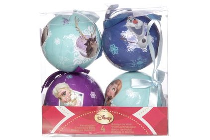 Disney Frozen Christmas baubles 4 Pcs.