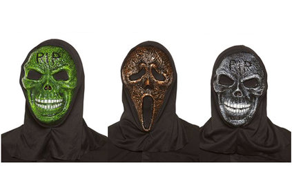 HALLOWEEN MASKER SCREAM SKELET 2ASS VOLW