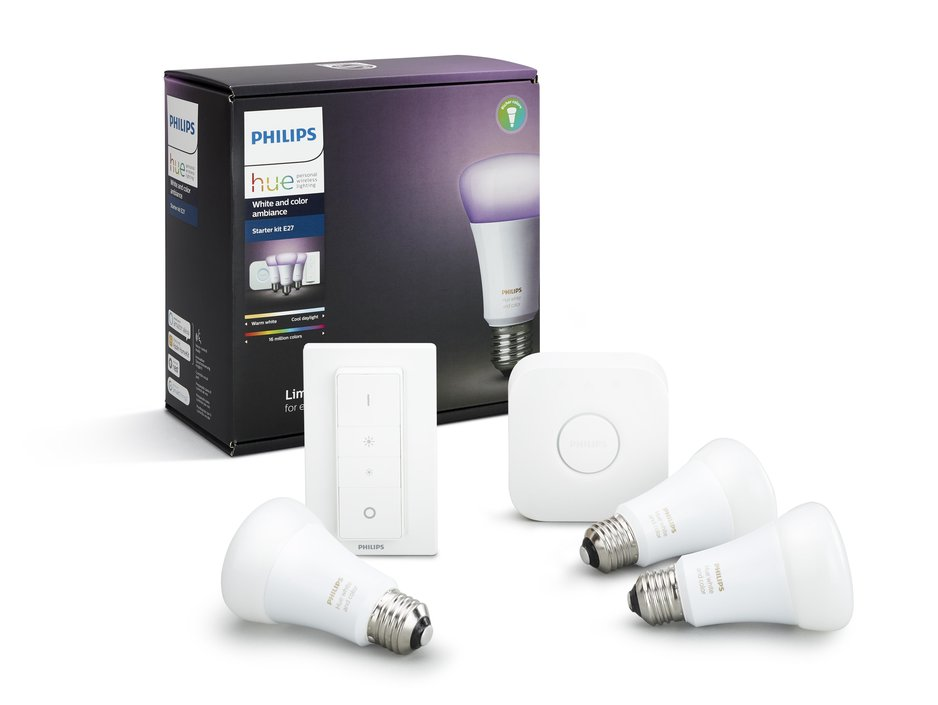 Philips Hue White and Color Ambiance E27 starterkit