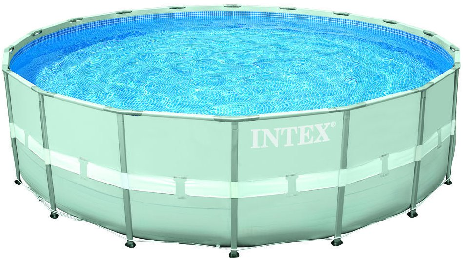 Intex prism frame pool with ondergrond zwembad for Ondergrond zwembad tuin