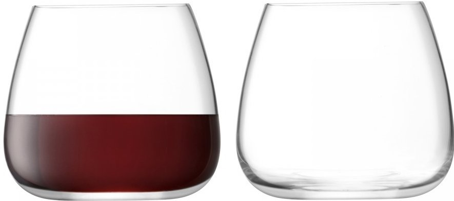 LSA Wine Culture steelloos wijnglas 385ml - set van 2