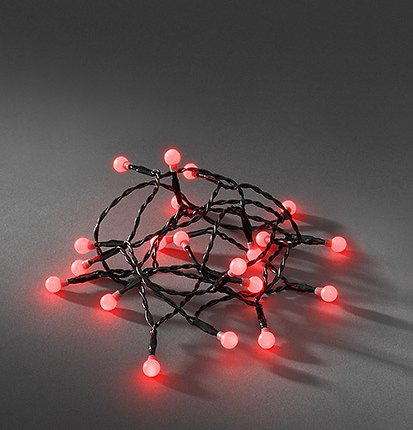 LED Lichtsnoer cherry LED rood
