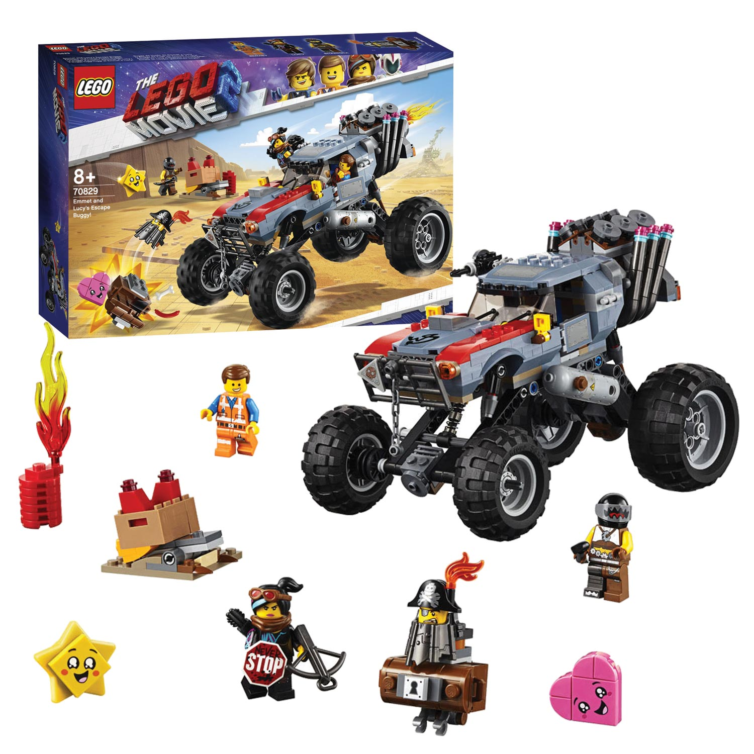LEGO The Movie 2 Emmets en Lucy's vlucht buggy - 70829