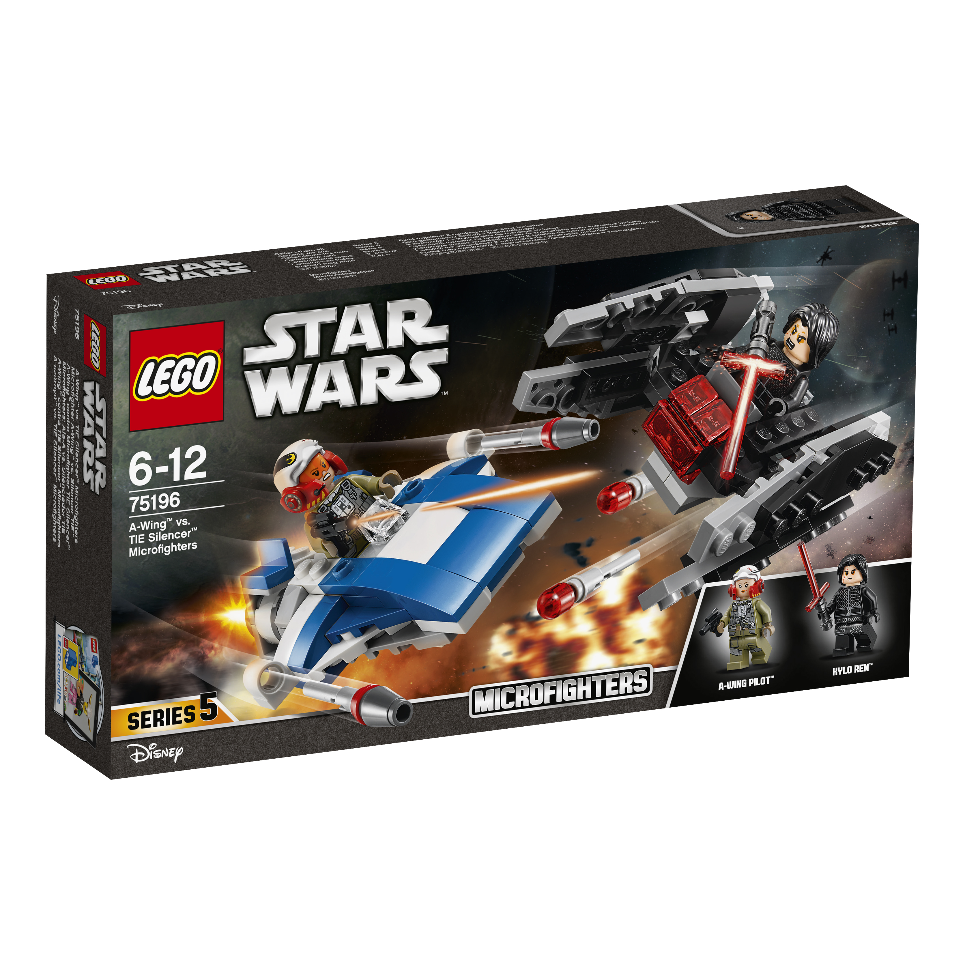 LEGO Star Wars A-wing vs. TIE Silencer microfighters - 75196
