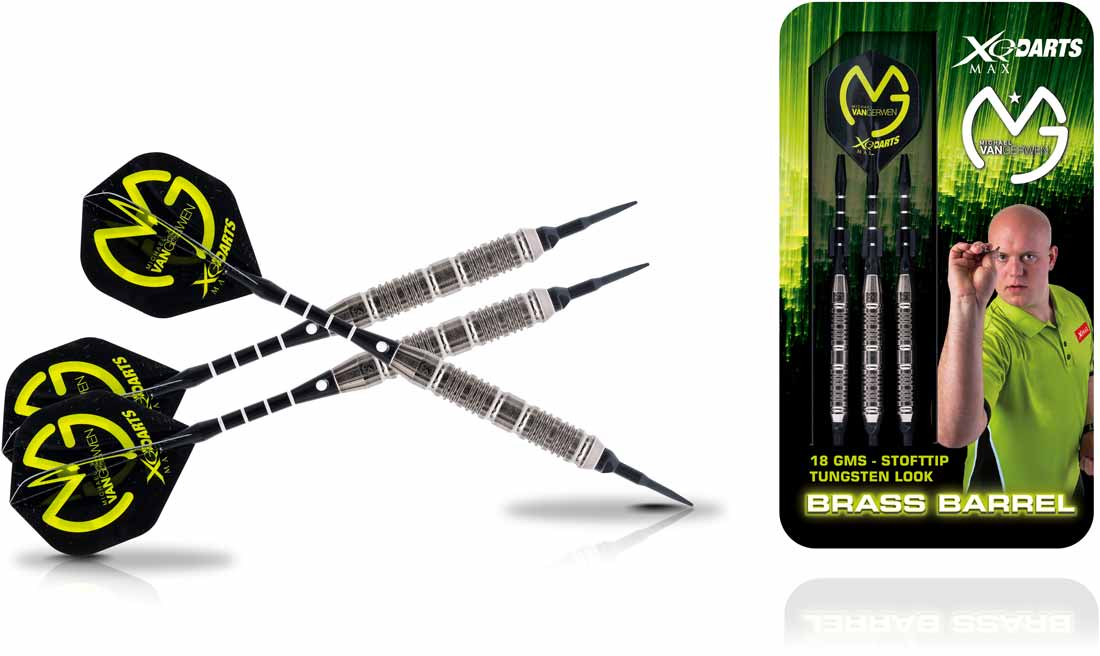 Michael van Gerwen Brass Soft Darts in Tungsten Look 18 gram