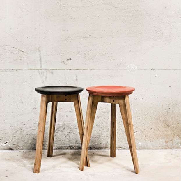 We Do Wood Button Stool krukje