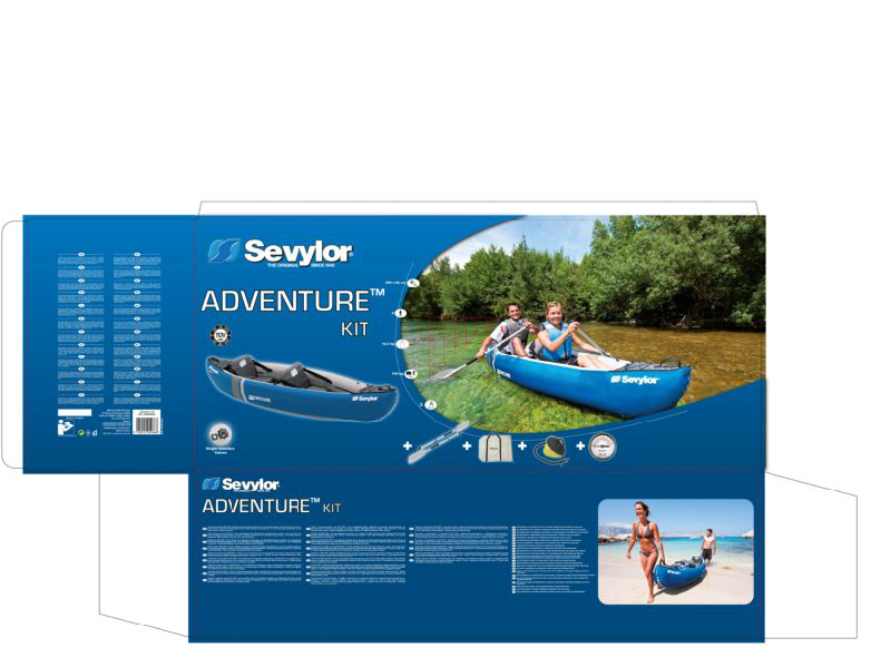 Sevylor Adventure Kit - 2 Person Inflatable kayak