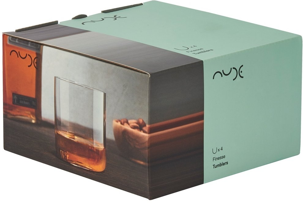 Nude Glass Finesse whiskeyglas 300ml - set van 4