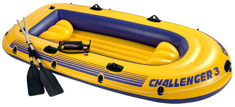 Intex Challenger 3 inflatable boat set on checkfrank co uk | Frank