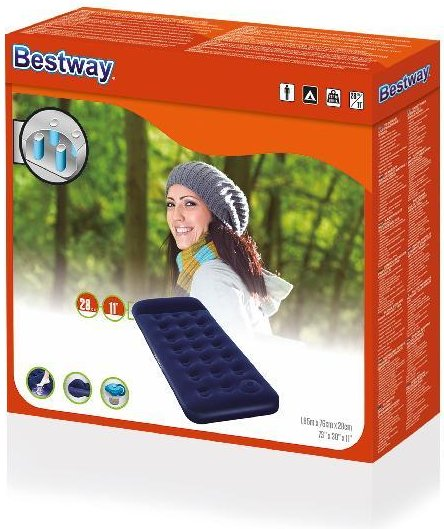 Bestway Flocked Easy Inflate Single Camping luchtbed