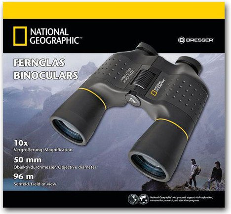 National Geographic 10x50 Porro Fernglas