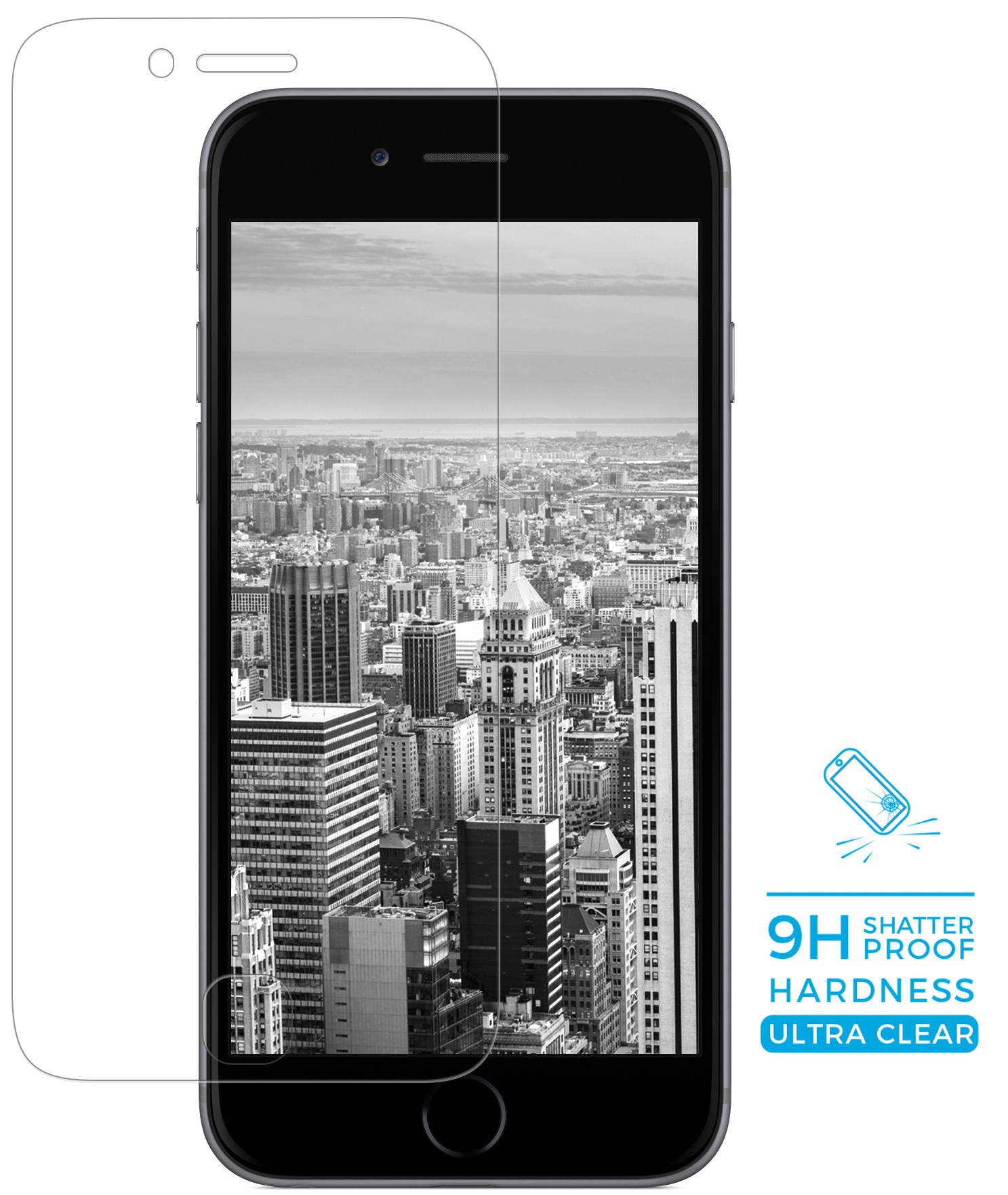 Mobiparts Armoured Glass screenprotector - Apple iPhone 7/8