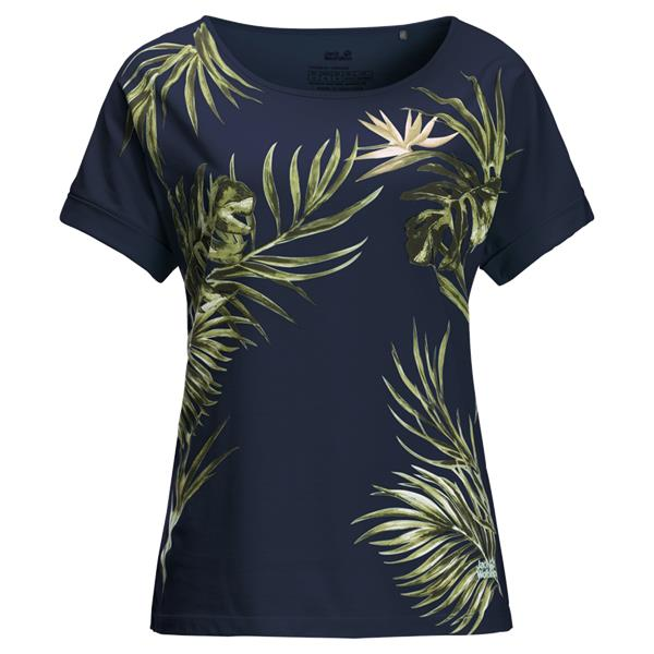 Jack Wolfskin Tropical Leaf T-shirt dames
