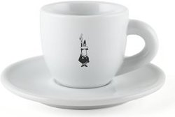 Bialetti porcelain coffee cup and saucer