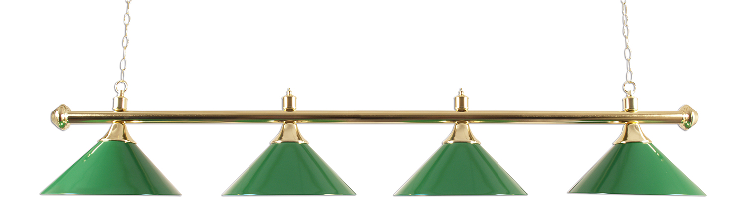 Lamp type pole with four caps brass / green