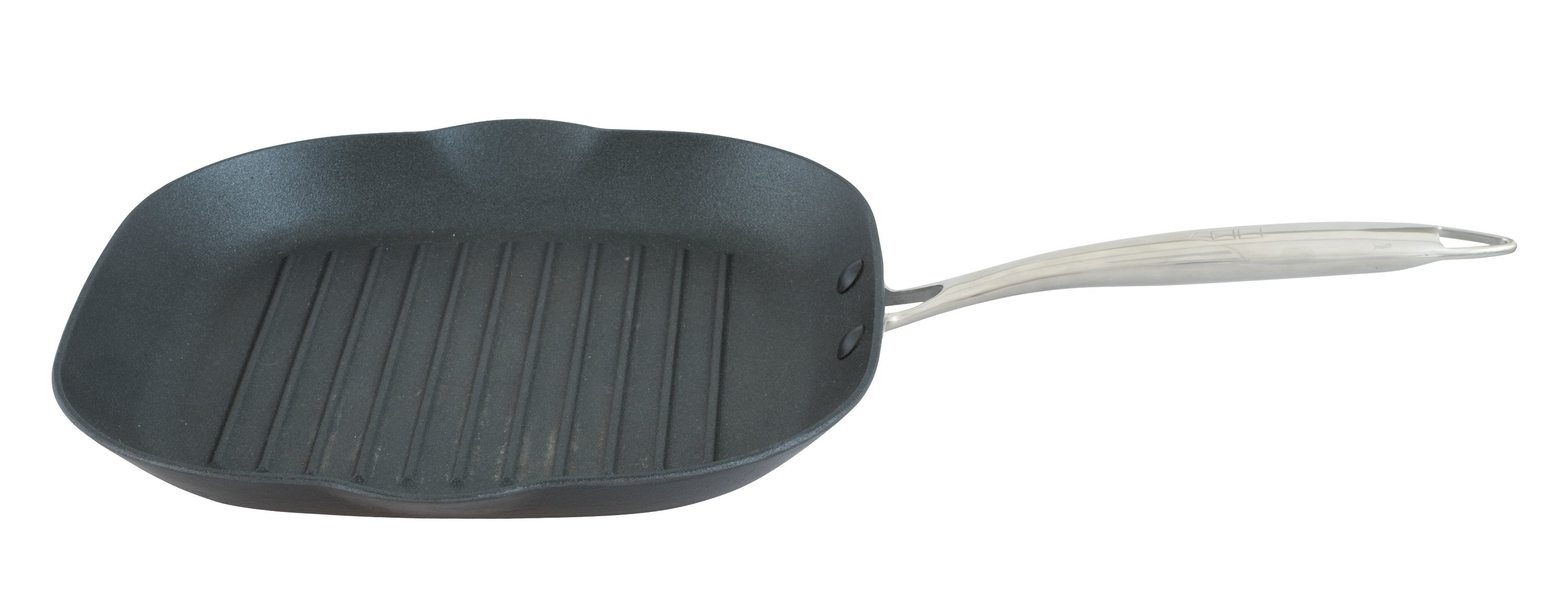 Point-Virgule Pan-�-moi gietijzeren grillpan