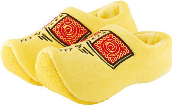 Gevavi yellow clog slippers