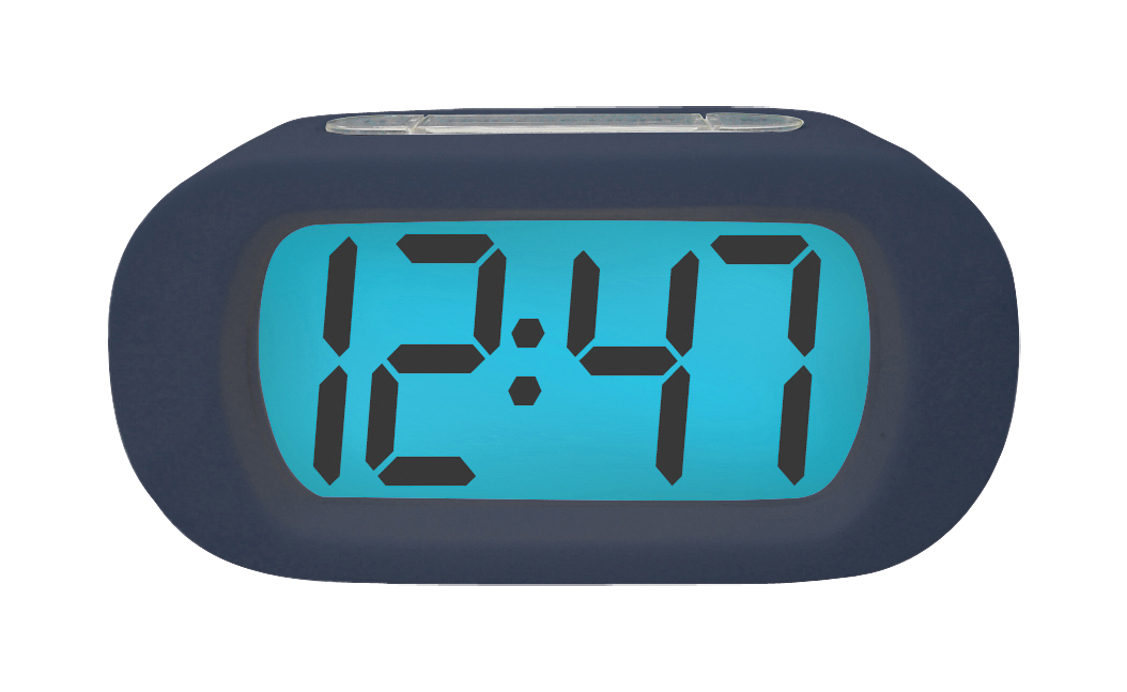 Balance Time LCD quartz alarm clock