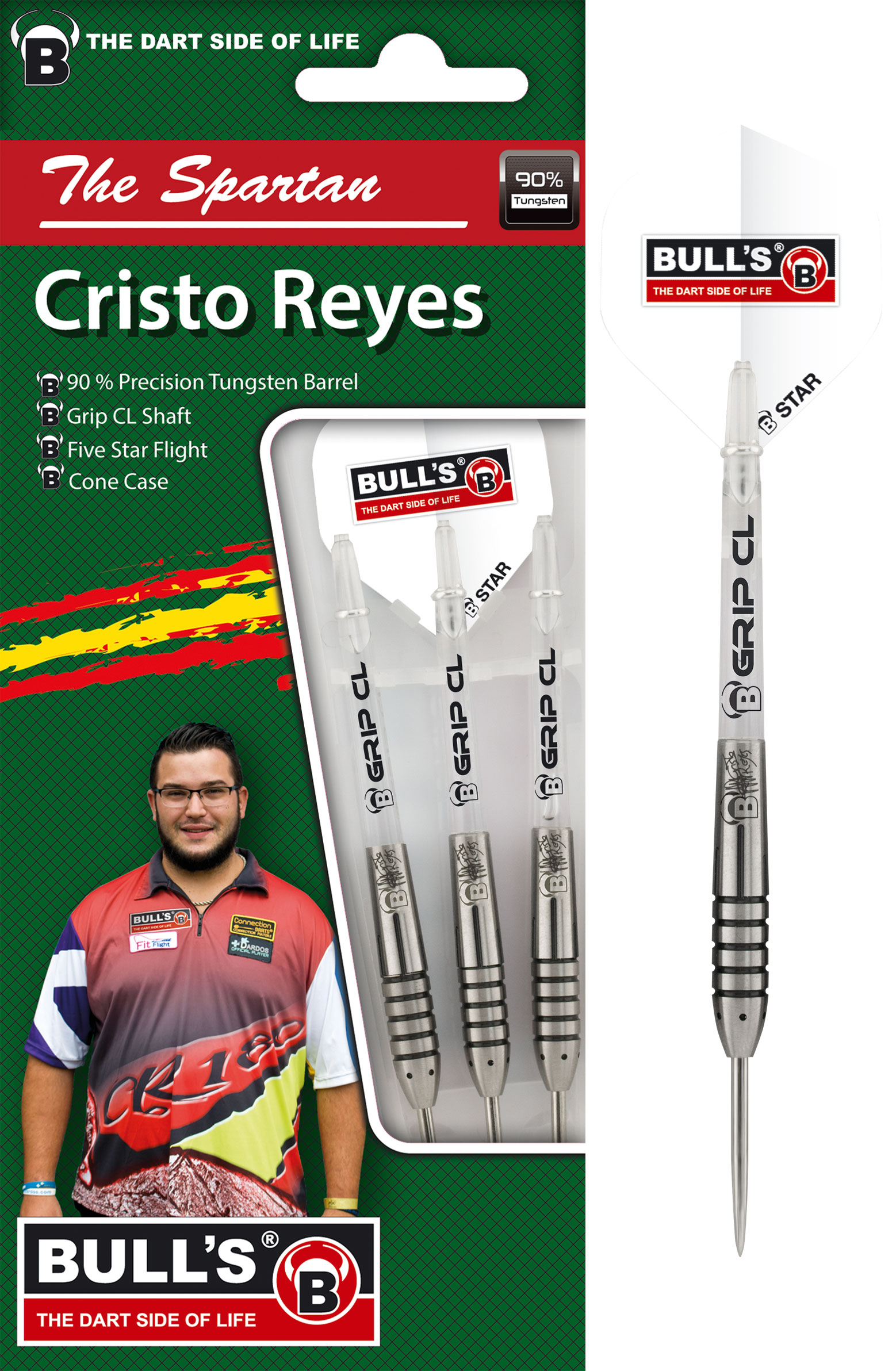 BULL'S Champions Christo The Spartan Reyes Steel Dart
