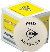 Dunlop Pro Wit squashballen