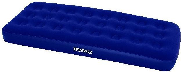 Bestway Flocked Blauw Single luchtbed