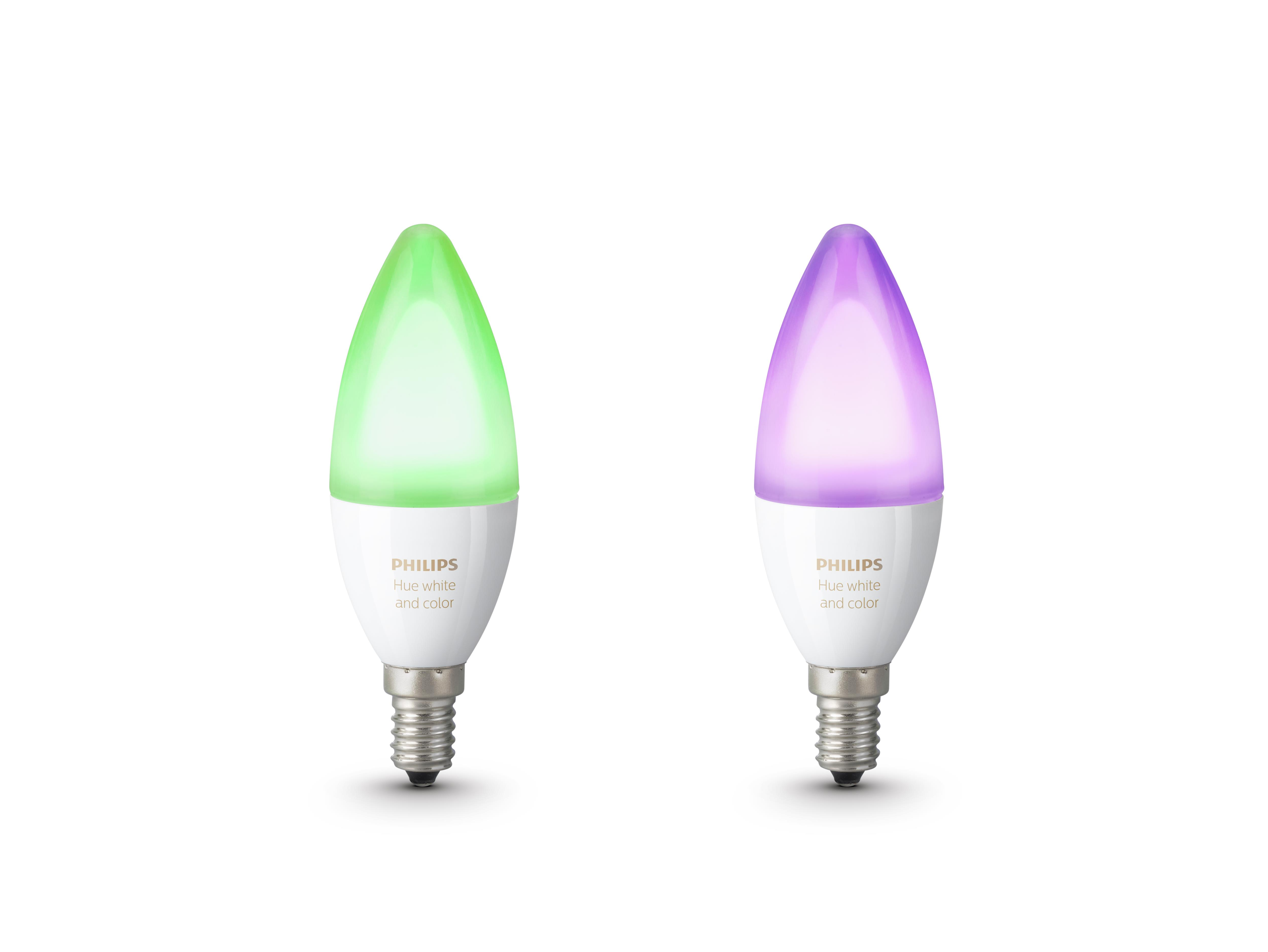 Philips Hue White and color ambiance E14 2-pack