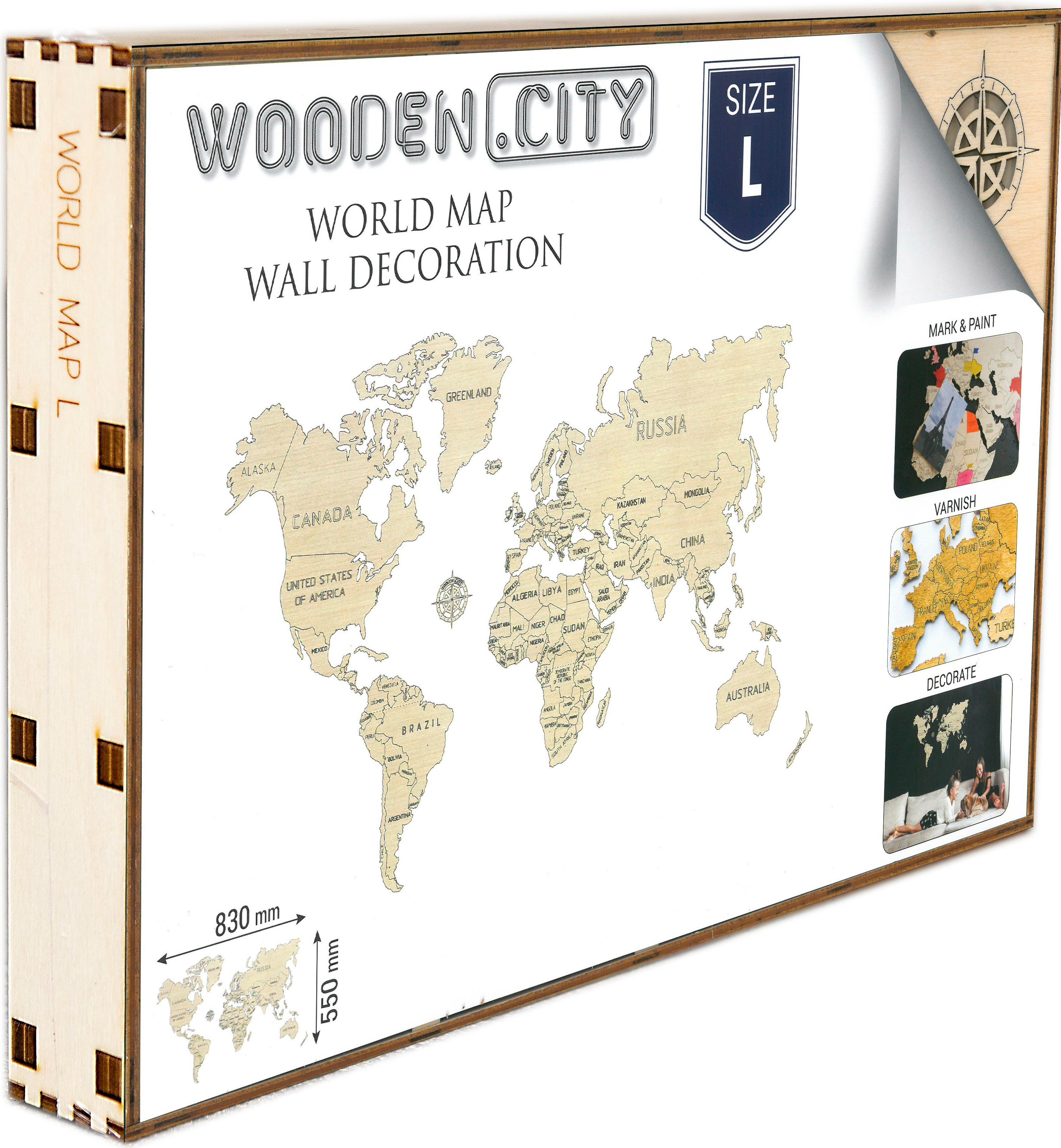 Wooden City Wereldkaart