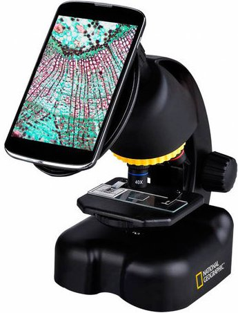 National Geographic telescoop en microscoop set met smartphoneadapter