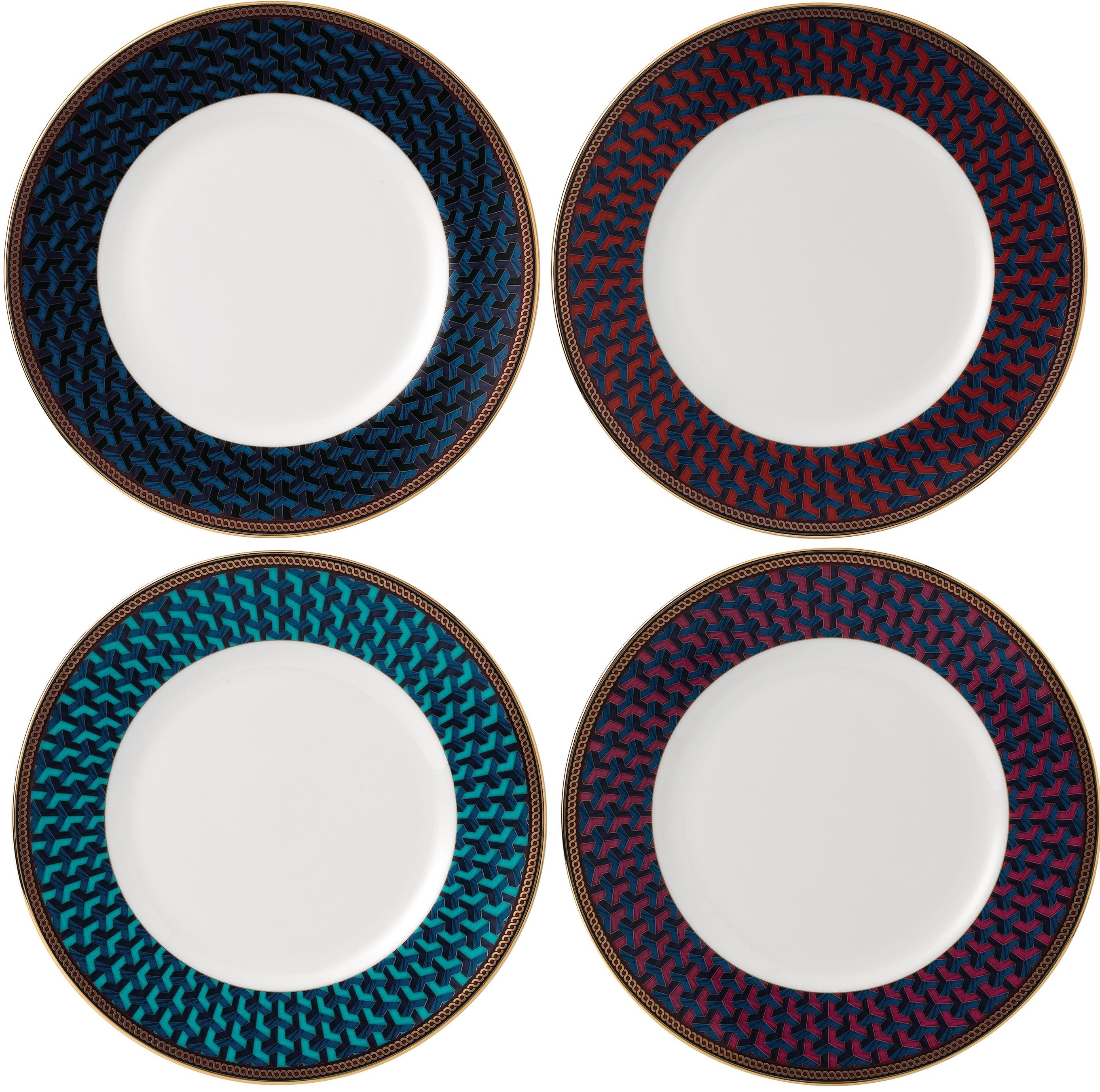 Wedgwood Byzance set of 4 breakfast plates
