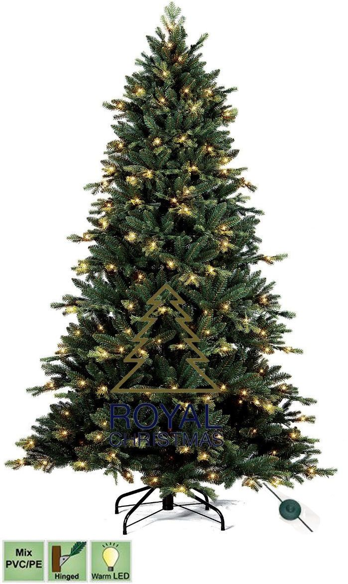 Royal Christmas Kunstkerstboom Michigan PE - PVC Premium Warm LED 180 cm